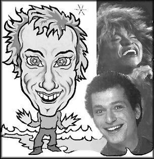 Sagitarrius Caricature with photos of Tina Turner and Howie Mandle #Strzelec #Sagittarius