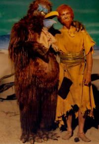"""According to Joel Eisner's book Lost in Space Forever the space chicken was originally conceived as a """"hairy monster,"""" probably the 'bear suit' Allen used and re-used in episodes like """"The Keeper"""" and """"The Toymaker."""" - Forbidden World"""