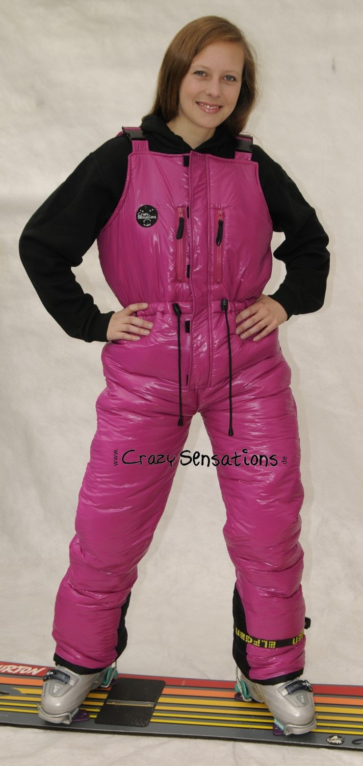 A pink pair of ski bibs from http://www.crazysensations.com/de