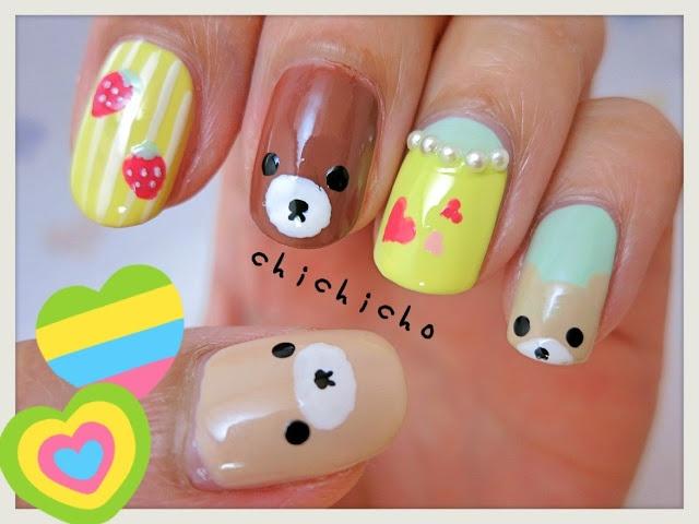 Rilakkuma Nail Art | chichicho~ nail art addicts