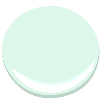 this would be pretty in the bathroom or my room         benjamin moore fresh mint... my guest bedroom color that i love so!