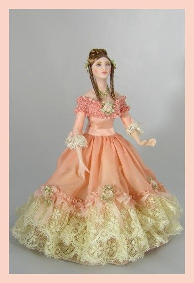 """vintage southern belle with crochet skirt 