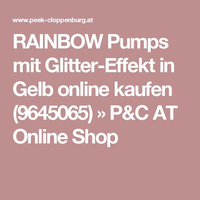 RAINBOW Pumps mit Glitter-Effekt in Gelb online kaufen (9645065) » P&C AT Online Shop