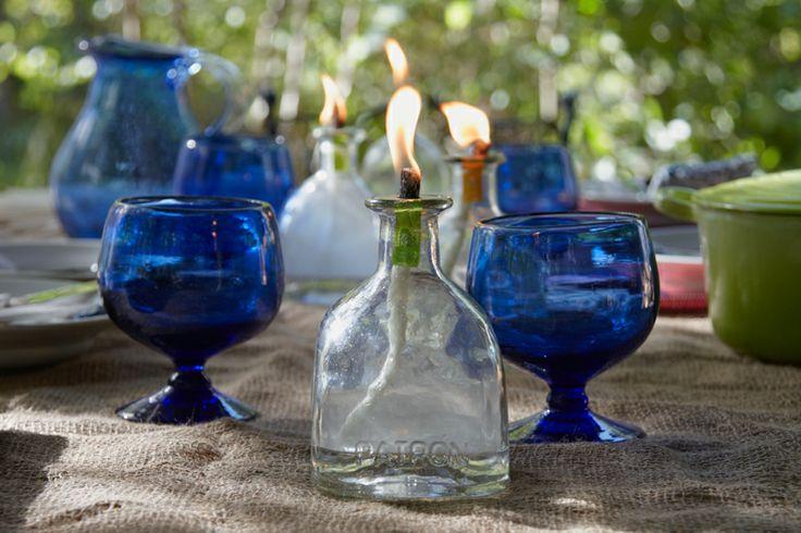 Patron bottles: Patrones Bottles0974, Altered Bottle, Crafts Ideas, Oil Lamps, Bottle Lights, Diy Tequila Bottle, Bottle Oil, Crafty Ideas, Oil Lanterns