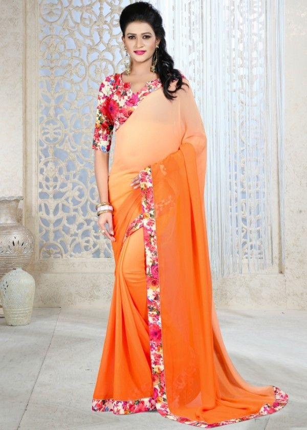 Stunning banarasi silk printed saree
