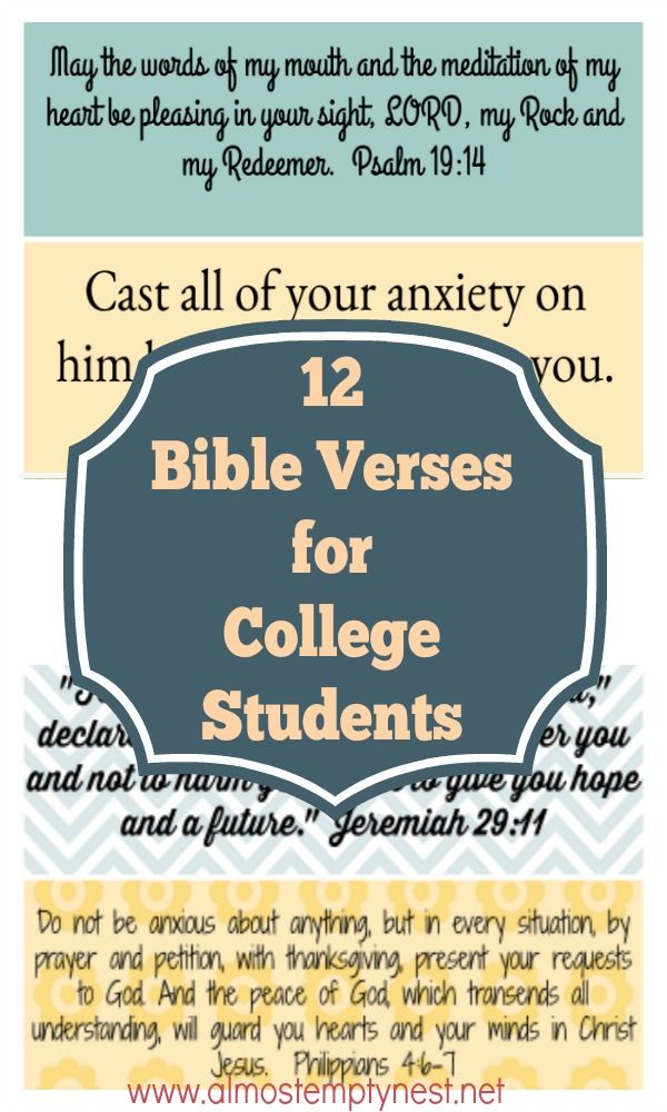 12 Bible Verses for College Students | Religious | Prayers