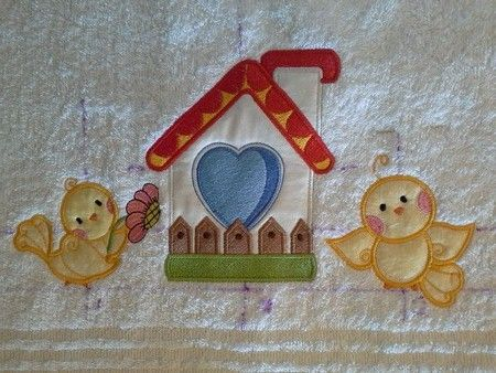 TS1370 - Tweet #Applique #Birds Welcome spring into your home with these cheerful little birds and beautiful bird houses. Bright and cheerful, they are sure to bring a smile! Applique is a favorite technique amongst most embroiderers. It's super easy and quick and is great for the beginner embroiderer.  #threadsnscissors #embroidery #machineembroidery