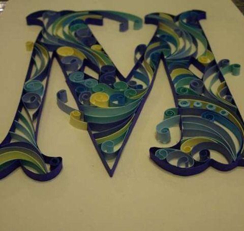 Letras con goma eva en relieve: Diy Crafts, Crafty, Quilled Monograms, Paper, Art, Tutorial, Quilling, Craft Ideas