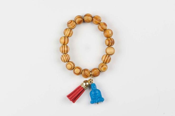 Buddha bracelet Gypsy Soul - Red / Blue