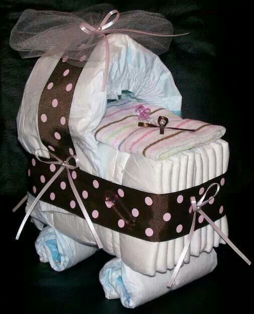 Baby shower idea  gift table centerpiece