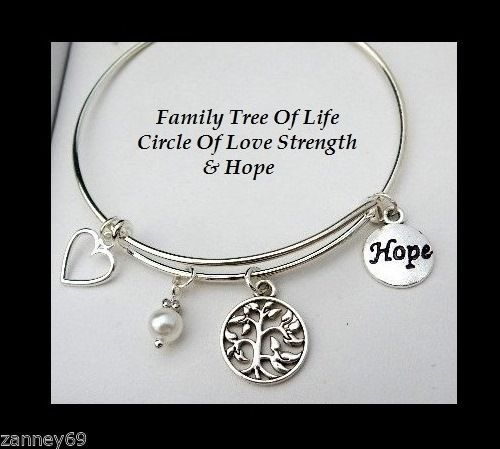 Family-Tree-Of-Life-Circle-Of-Love-Strength-Hope-Bangle-Adjustable-Size