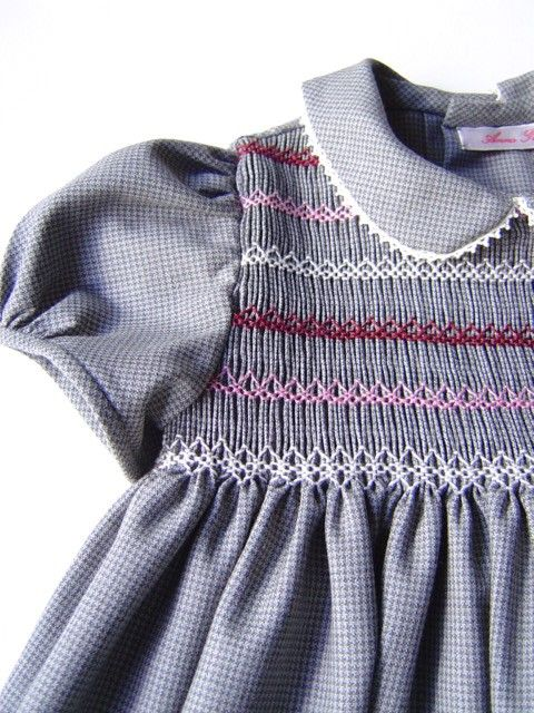Interesting smocking plate/colors on this one.