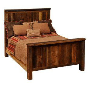 Barnwood Traditional Panel Bed - Headboards at Hayneedle.  Looks fairly simple to build.