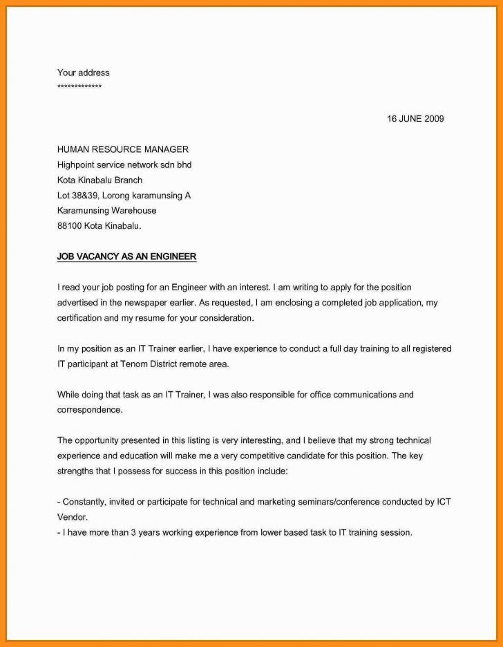 Simple Cover Letter For Job Application 7 Simple Cover Letter For