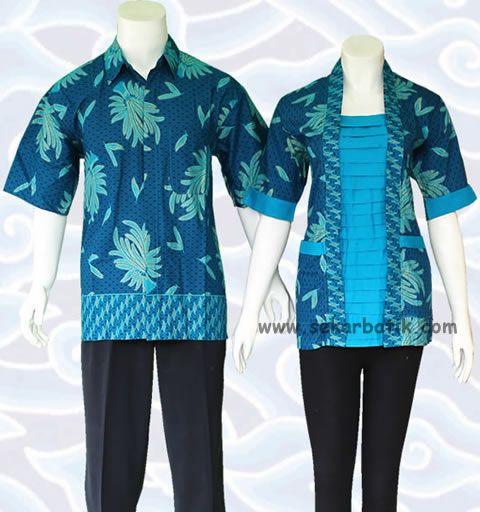 blus batik sarimbit couple toska bc14 di katalog http://sekarbatik.com/blus-batik-sarimbit/