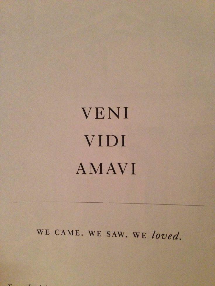 We came. We saw. We loved.