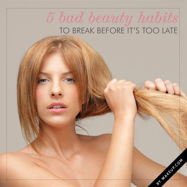 5 bad beauty habits you need to break // great tips!