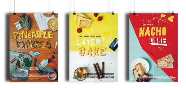 Handmade Typographic Movie Posters by Mark Blackler