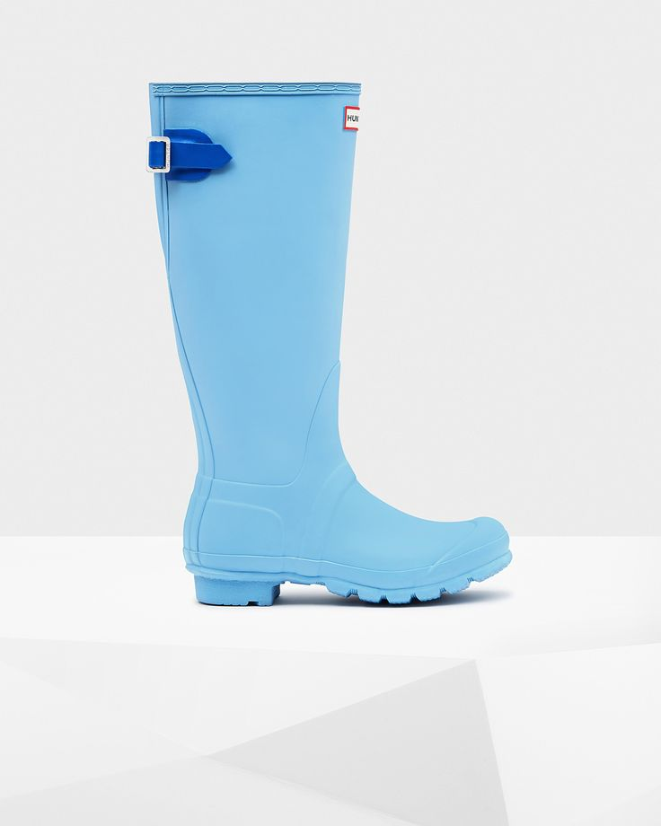 Blue Women's Original Back Adjustable Rain Boots - Brought to you by Avarsha.com