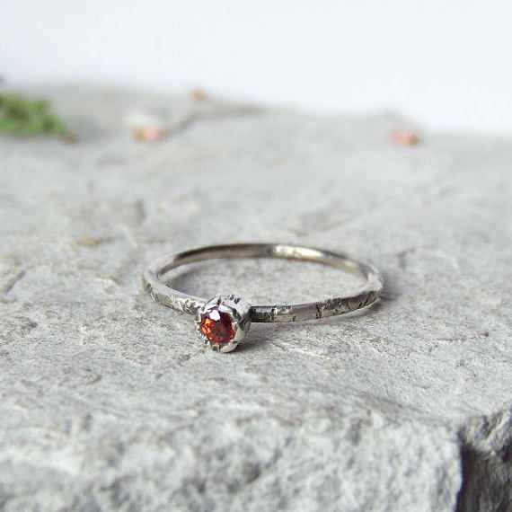 My collection Spring Flowers and rings Twigs are made without using any sort of forms of jewelery - this is the 100% hand work Everyone is unique - I can do a similar but not the same :)   Subtle flower ring is made of oxidized, raw sterling silver and red sapphire.  sapphire size - 3 mm