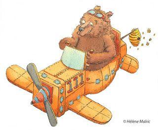 faire-part de naissance personnalisé, customed birth card, illustration, ours avion