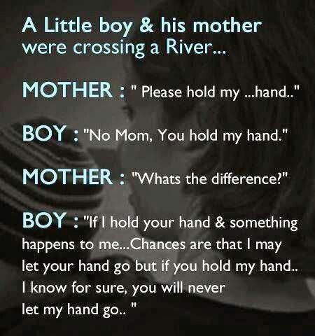 MOTHERHOOD, and the best part - the child knew what the mom didn't realize...