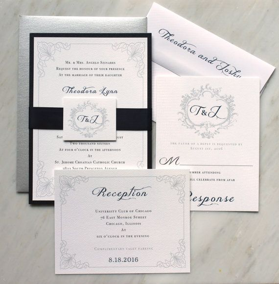 Classic Love  Elegant Wedding Invitations Romantic by BeaconLane, $100.00