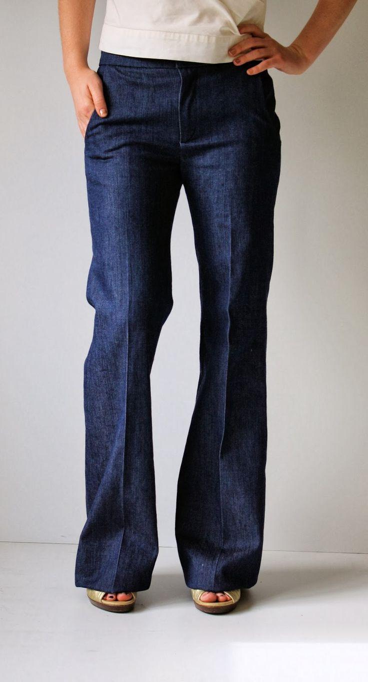 Running With Scissors: Womens Wide Leg Denim Trousers