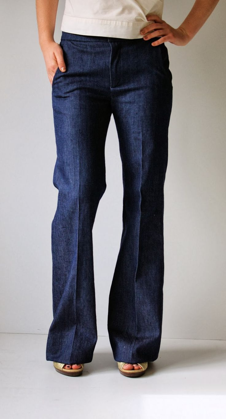 Running With Scissors: Womens Wide Leg Denim Trousers