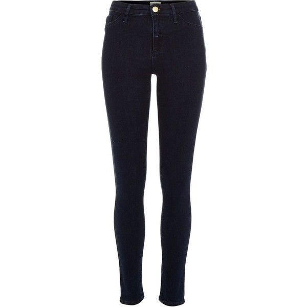 River Island Dark wash Molly reform jeggings ($80) ❤ liked on Polyvore featuring pants, leggings, jeans, jeggings, women, river island, blue jeggings, jeggings leggings, blue jean leggings and jeggings pants
