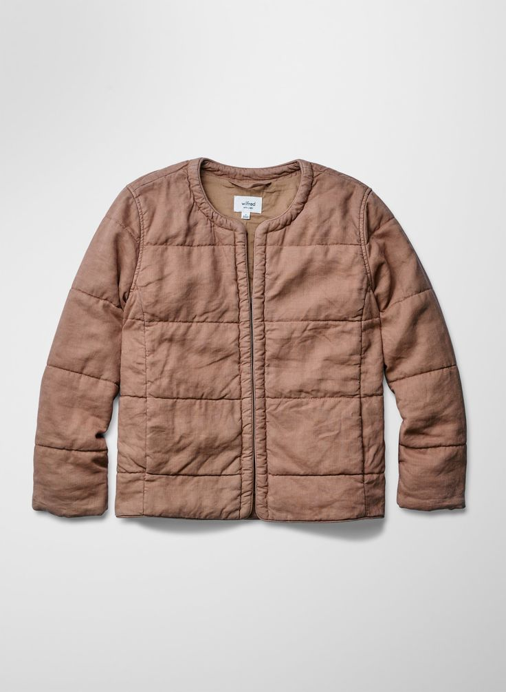 Wilfred JONQUILLE JACKET | Aritzia; made with a softly textured dobby fabric treated with a pigment-garment dye that gives the fabric a luxe finish 63% Lyocell, 37% Linen