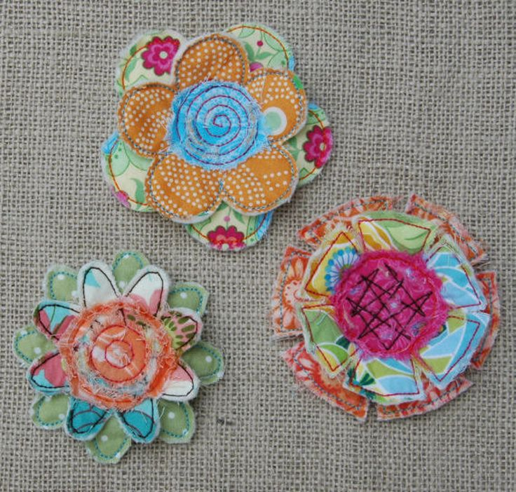 In the Hoop Frayed & Layered Flowers Machine Embroidery