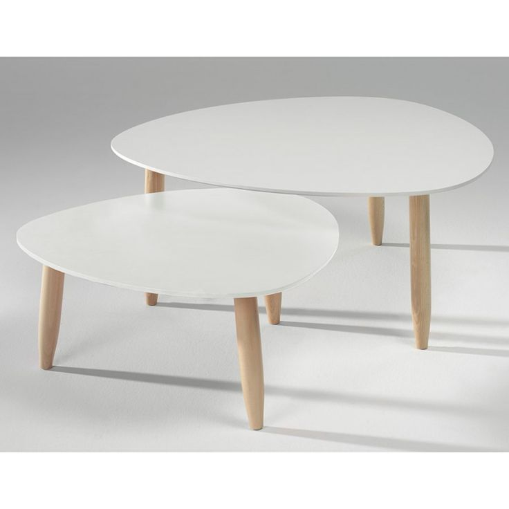 Table basse salon center - Table basse scandinave gigogne ...