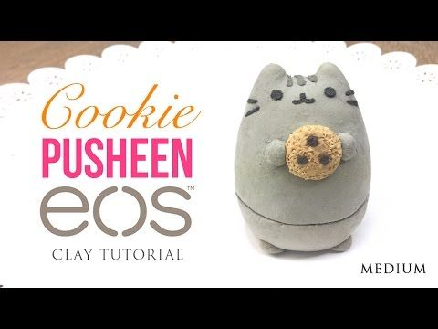 Pusheen Cat & Cookie DIY EOS Clay Tutorial! - YouTube (Could easily make totoro)