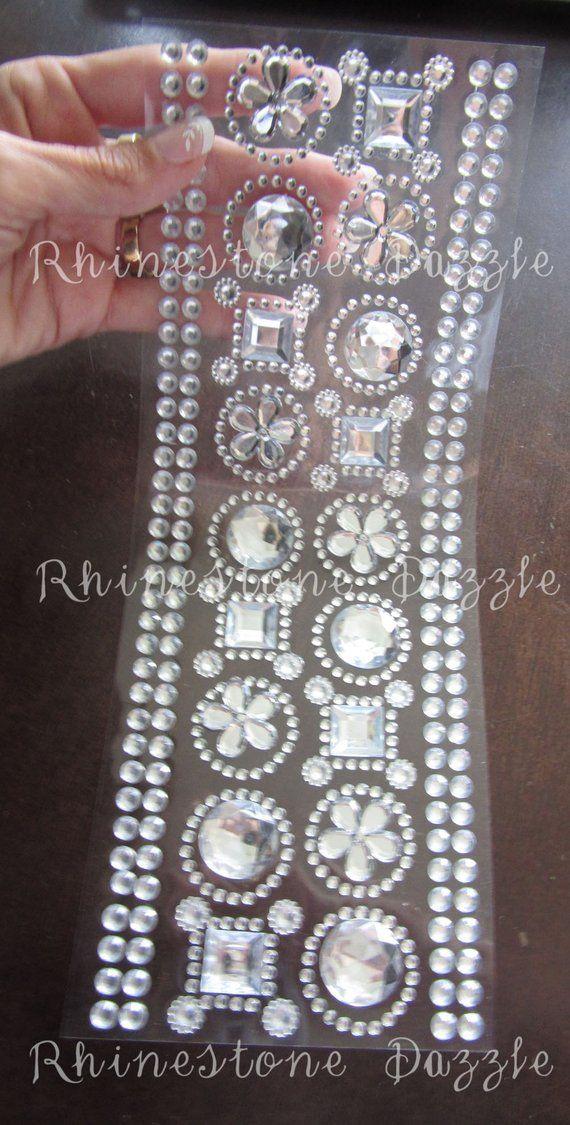 a76ebdd1b2 Decoration clear rhinestone stickers, stick on rhinestones ...