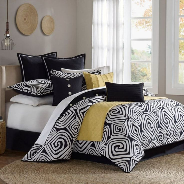 Italian bedspreads black and white bedding sets