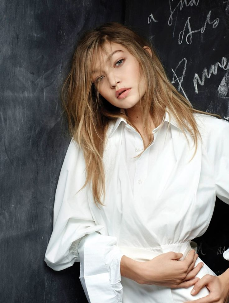 A stunning Gigi Hadid wears a Spring/Summer top for the latest V magazine issue shot by the Karl Lagerfeld.