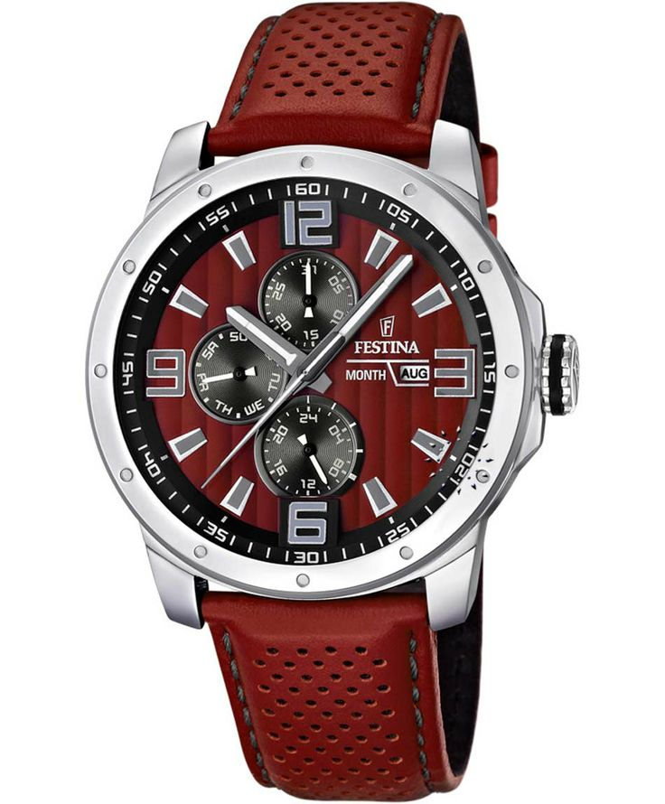 FESTINA Multifunction Red Leather Strap Τιμή: 118€ http://www.oroloi.gr/product_info.php?products_id=38768