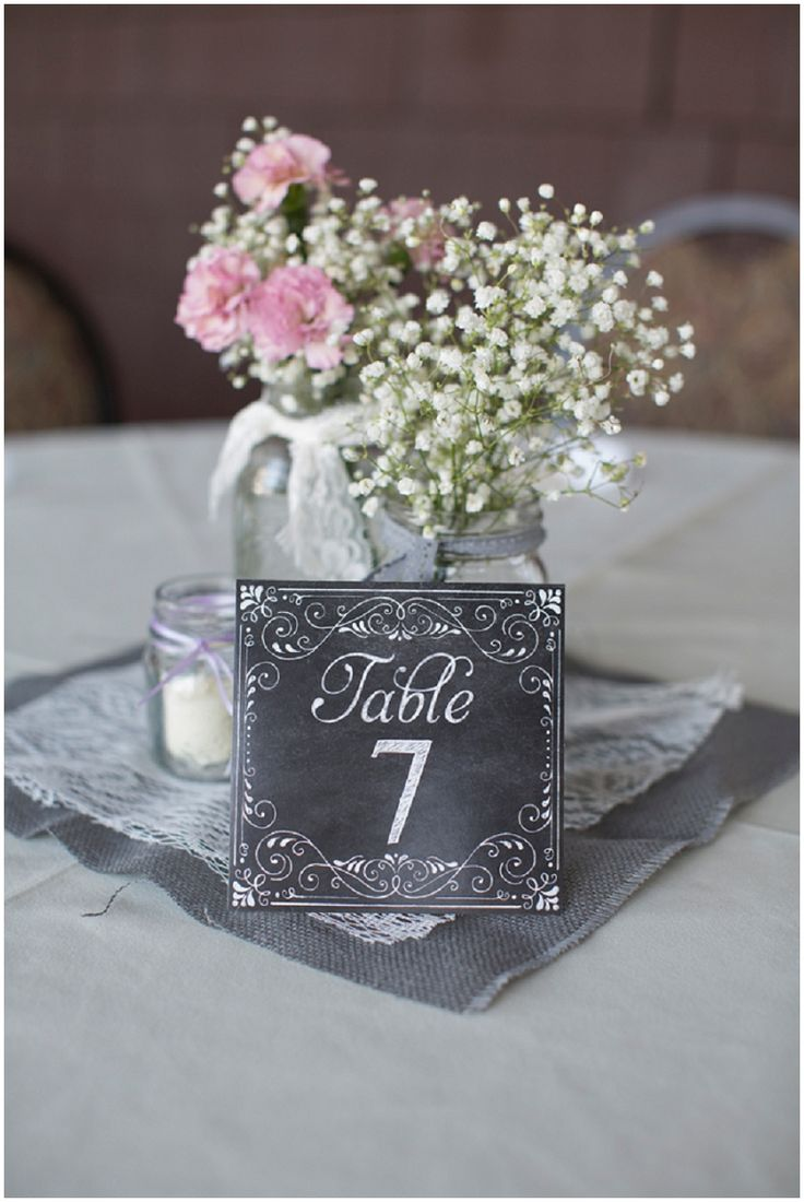 Intimate Lavender Wedding Chalkboard CenterpiecesCenterpiece IdeasMason Jar ChalkboardChalkboard Table
