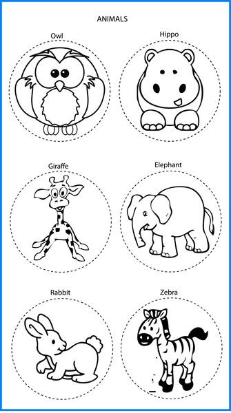 Animals Mixed Designs - Colour In Yourself Badges