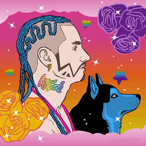 Rapper Riff Raff Dyed His Dog Blue