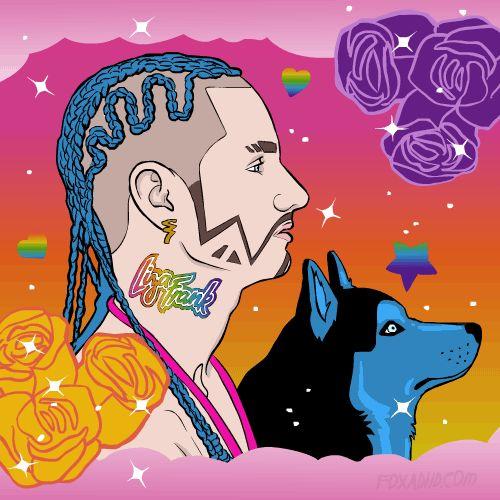 Rapper Riff Raff Dyed His Dog Blue