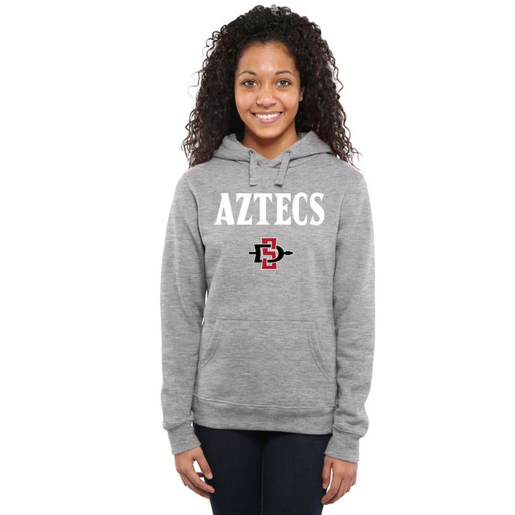 San Diego State Aztecs Women's Proud Mascot Pullover Hoodie - Ash -