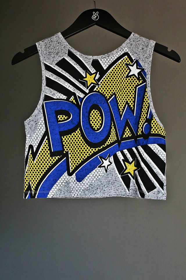 (£7.00) This is an all time classic POP ART crop top with ...