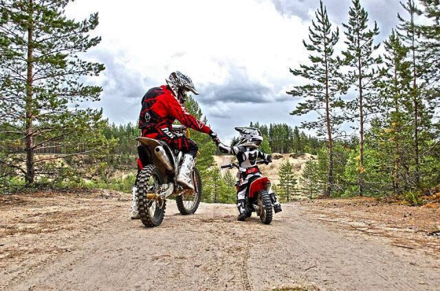I love this! Father & Son Motocross