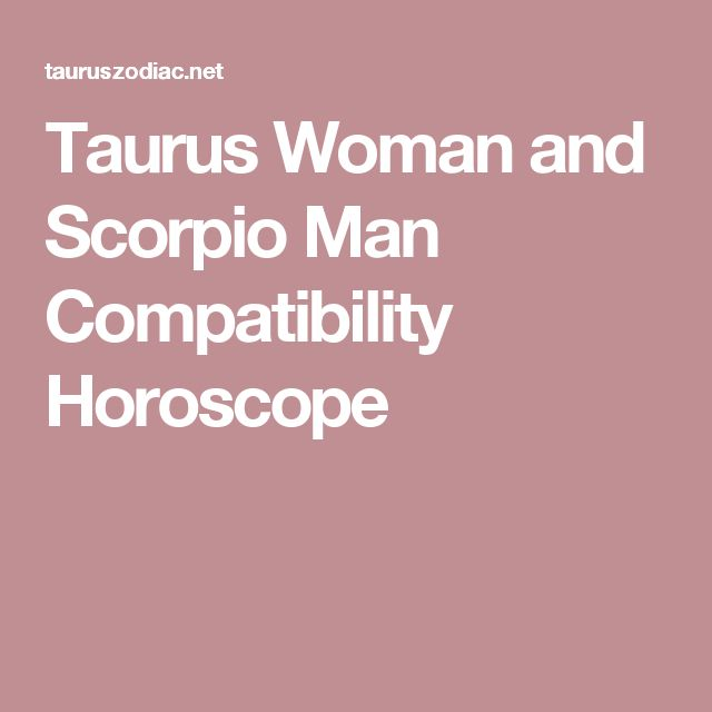 relationship between taurus and scorpio