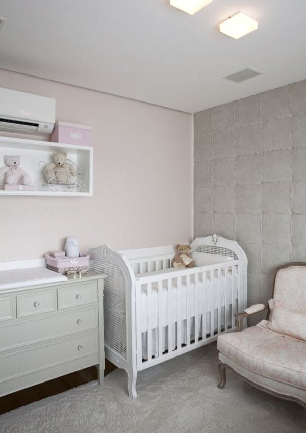 Decoração Quarto de Bebê Menina - Berço e Armário (Arquiteta: Paula Magnani)