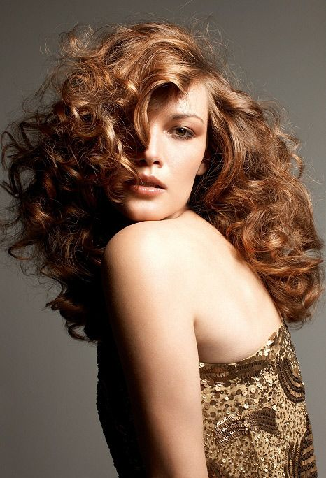long wavy perm hairstyle