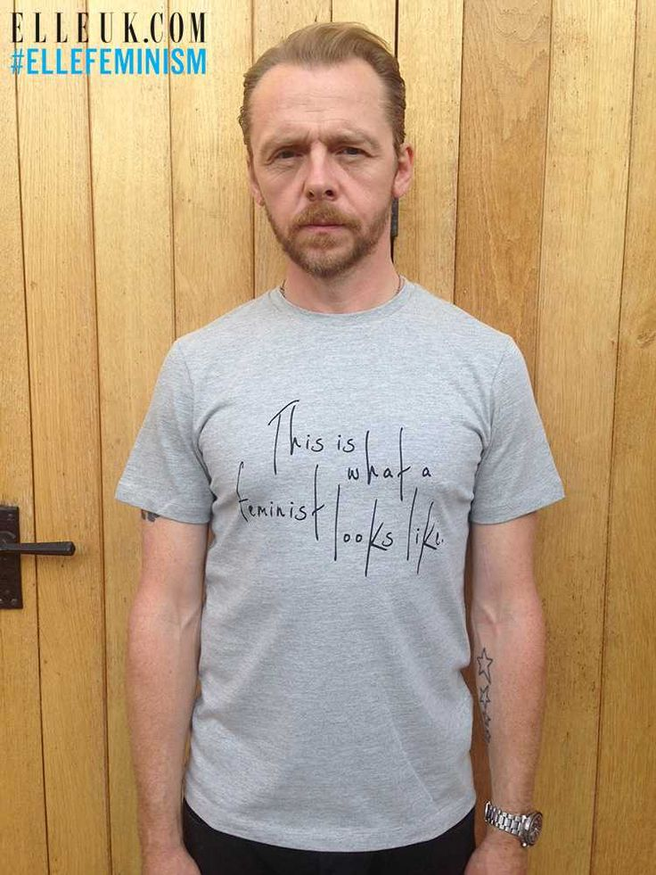 This is what a feminist looks like || ELLE UK. Featuring Simon Pegg.