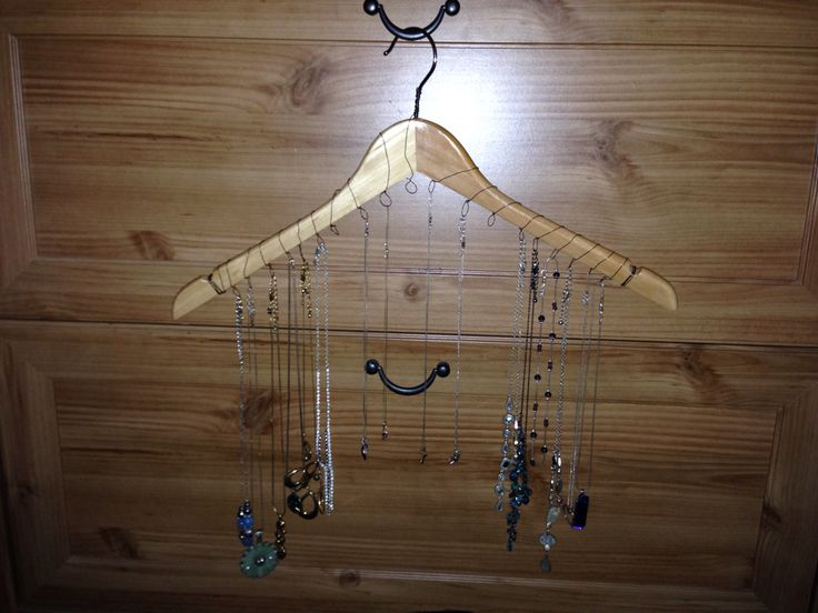 My necklace display in its new home